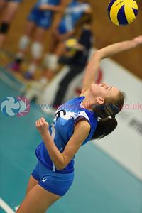 SCO 3 v 0 NIR (13, 7, 10), CEV 2016 European Championships - U19 Women's Finals, University of Edinburgh, Centre for Sport and Exercise, 1 April 2016.  © Lynne Marshall   http://www.volleyballphotos.co.uk/2016/CEVFIVB/SCD-U19W/SCO-NIR
