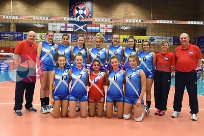 SCO v NIR, CEV 2016 European Championships - U19 Women's Finals, University of Edinburgh, Centre for Sport and Exercise, 1 April 2016.  © Lynne Marshall   http://www.volleyballphotos.co.uk/2016/CEVFIVB/SCD-U19W/SCO-NIR