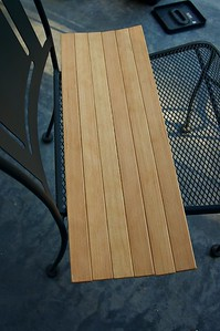 Slats for seats and rear deck pieces