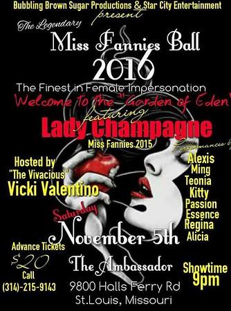 Chuck Pfoutz Presents: Miss Fannies Ball 2016