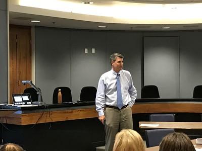 Dr. Mathews Addresses the class