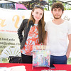 Julieh Nunez and Gerardo Fuentes Escalante represent La Voz magazine at Affinity Health Plans Third Annual Family Fall Festival in Downing Park on Saturday, September 24, 2016 in Newburgh, NY. Hudson Valley Press/CHUCK STEWART, JR.