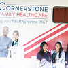 Lesly Retamozo, Christine Garufi and Jessica Miles represent Cornerstone Family Healthcare at Affinity Health Plans Third Annual Family Fall Festival in Downing Park on Saturday, September 24, 2016 in Newburgh, NY. Hudson Valley Press/CHUCK STEWART, JR.