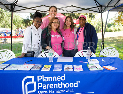 Naomi, Ashley, Catherine, Yolanda and Debrah represent Planned Parenthood Mid-Hudson Valley at Affinity Health Plans Third Annual Family Fall Festival in Downing Park on Saturday, September 24, 2016 in Newburgh, NY. Hudson Valley Press/CHUCK STEWART, JR.