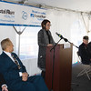 Dr. Michelle A. Koury, Chief Operating Officer of Crystal Run Healthcare, offers remarks as Crystal Run Healthcare celebrated the grand opening of, and cut the ribbon at, their new facility in the Village of Monroe on November 1, 2016. Hudson Valley Press/CHUCK STEWART, JR.