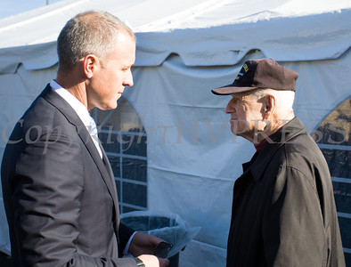 US Rep. Sean Patrick Maloney talks with NYS Senator William Larking as Crystal Run Healthcare celebrated the grand opening of, and cut the ribbon at, their new facility in the Village of Monroe on November 1, 2016. Hudson Valley Press/CHUCK STEWART, JR.