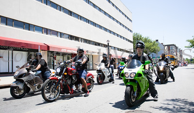 Local motorcycle club participated in the annual Father's Day Parade held in Poughkeepsie on Saturday, June 18, 2016. Hudson Valley Press/CHUCK STEWART, JR.