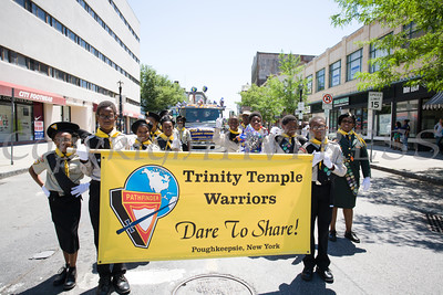 Trinity Temple Warriors participated in the annual Father's Day Parade held in Poughkeepsie on Saturday, June 18, 2016. Hudson Valley Press/CHUCK STEWART, JR.