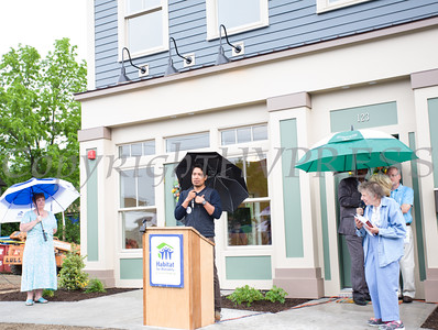 New home and and business owner Ignacio Acevedo offers thanks during his remarks as Habitat for Humanity of Greater Newburgh completed its 5th Builders Blitz in the City of Newburgh on Saturday, June 11, 2016. Hudson Valley Press/CHUCK STEWART, JR.