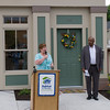 Cathy Collins, Habitat Newburgh executive Director, offers remarks at Habitat for Humanity of Greater Newburgh's 5th Builders Blitz in the City of Newburgh on Saturday, June 11, 2016. Hudson Valley Press/CHUCK STEWART, JR.