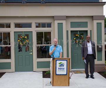 Richard Schoenber, Habitat Newburgh President, offers remarks during Habitat for Humanity of Greater Newburgh's 5th Builders Blitz in the City of Newburgh on Saturday, June 11, 2016. Hudson Valley Press/CHUCK STEWART, JR.