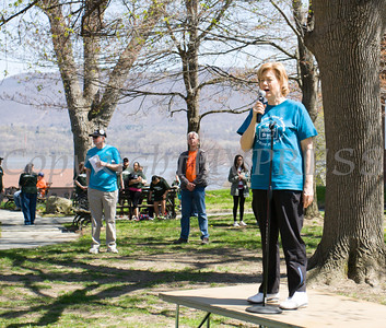 City of Newburgh Mayor Judy Kennedy offers remarks prior to Habitat for Humanity of Greater Newburgh's 17th Annual Walk for Housing in the City of Newburgh on Sunday, April 17, 2016. Hudson Valley Press/CHUCK STEWART, JR.