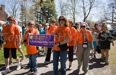 Catholic Daughters of the Americas from Washingtonville participated in Habitat for Humanity of Greater Newburgh's 17th Annual Walk for Housing in the City of Newburgh on Sunday, April 17, 2016. Hudson Valley Press/CHUCK STEWART, JR.