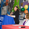 Sandra Carasquillo offers remarks as the Poughkeepsie Healthy Black and Latino Coalition celebrated Black History Month with a Healthy Living Expo at the Family Partnership Center in Poughkeepsie, NY on Saturday, February 27, 2016. Hudson Valley Press/CHUCK STEWART, JR.