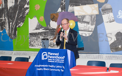 City of Poughkeepsie Mayor Robert Rolison offers remarks as the Poughkeepsie Healthy Black and Latino Coalition celebrated Black History Month with a Healthy Living Expo at the Family Partnership Center in Poughkeepsie, NY on Saturday, February 27, 2016. Hudson Valley Press/CHUCK STEWART, JR.