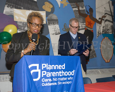 Arlette Murrain introduces US Rep. Sean Patrick Maloney (NY-18) as the Poughkeepsie Healthy Black and Latino Coalition celebrated Black History Month with a Healthy Living Expo at the Family Partnership Center in Poughkeepsie, NY on Saturday, February 27, 2016. Hudson Valley Press/CHUCK STEWART, JR.