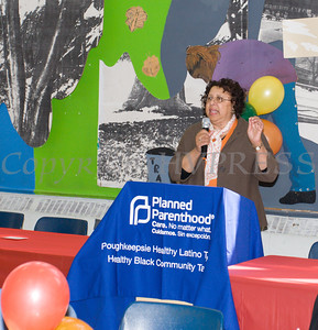 Diane Ruffin offers remarks as the Poughkeepsie Healthy Black and Latino Coalition celebrated Black History Month with a Healthy Living Expo at the Family Partnership Center in Poughkeepsie, NY on Saturday, February 27, 2016. Hudson Valley Press/CHUCK STEWART, JR.