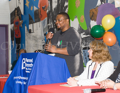 James tells his story as the Poughkeepsie Healthy Black and Latino Coalition celebrated Black History Month with a Healthy Living Expo at the Family Partnership Center in Poughkeepsie, NY on Saturday, February 27, 2016. Hudson Valley Press/CHUCK STEWART, JR.