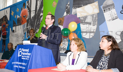 Dr. Joshua Jaffe offers remarks as the Poughkeepsie Healthy Black and Latino Coalition celebrated Black History Month with a Healthy Living Expo at the Family Partnership Center in Poughkeepsie, NY on Saturday, February 27, 2016. Hudson Valley Press/CHUCK STEWART, JR.