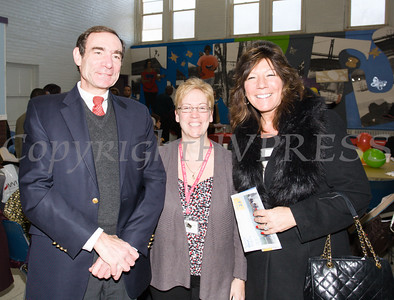 Dr. Joshua Jaffe, Fran Fox-Pizzonia and NYS Senator Sue Serino pose for a picture as the Poughkeepsie Healthy Black and Latino Coalition celebrated Black History Month with a Healthy Living Expo at the Family Partnership Center in Poughkeepsie, NY on Saturday, February 27, 2016. Hudson Valley Press/CHUCK STEWART, JR.
