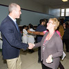 US Rep. Sean Patrick Maloney (NY-18) is greeted by Fran Fox-Pizzonia as the Poughkeepsie Healthy Black and Latino Coalition celebrated Black History Month with a Healthy Living Expo at the Family Partnership Center in Poughkeepsie, NY on Saturday, February 27, 2016. Hudson Valley Press/CHUCK STEWART, JR.