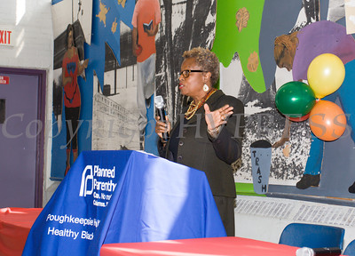 Arlette Murrain was the master of ceremonies for tThe Poughkeepsie Healthy Black and Latino Coalition which  celebrated Black History Month with a Healthy Living Expo at the Family Partnership Center in Poughkeepsie, NY on Saturday, February 27, 2016. Hudson Valley Press/CHUCK STEWART, JR.