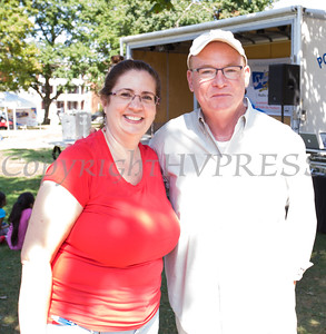 Annette Marzan of Planned Parenthood Mid Hudson Valley and Poughkeepsie Mayor Rob Rolison at the Poughkeepsie Healthy Black and Latino Coalition celebration of Hispanic Heritage Month at the Hispanic Heritage Festival on Saturday, September 17, 2016 at Mansion Square Park in Poughkeepsie, NY. Hudson Valley Press/CHUCK STEWART, JR.