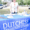 Karina Huincho represents Dutchess Community College at the Poughkeepsie Healthy Black and Latino Coalition celebration of Hispanic Heritage Month at the Hispanic Heritage Festival on Saturday, September 17, 2016 at Mansion Square Park in Poughkeepsie, NY. Hudson Valley Press/CHUCK STEWART, JR.