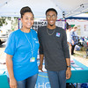 Megan Gomez and Omari White represent HRH Care at the Poughkeepsie Healthy Black and Latino Coalition celebration of Hispanic Heritage Month at the Hispanic Heritage Festival on Saturday, September 17, 2016 at Mansion Square Park in Poughkeepsie, NY. Hudson Valley Press/CHUCK STEWART, JR.
