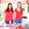 Evelyn Reyes and Julieh Nunez represent La Voz magazine at the Poughkeepsie Healthy Black and Latino Coalition celebration of Hispanic Heritage Month at the Hispanic Heritage Festival on Saturday, September 17, 2016 at Mansion Square Park in Poughkeepsie, NY. Hudson Valley Press/CHUCK STEWART, JR.