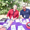 Andrew Reid and Wilfredo Pineiro represent Hudson Valley Community Services at the Poughkeepsie Healthy Black and Latino Coalition celebration of Hispanic Heritage Month at the Hispanic Heritage Festival on Saturday, September 17, 2016 at Mansion Square Park in Poughkeepsie, NY. Hudson Valley Press/CHUCK STEWART, JR.