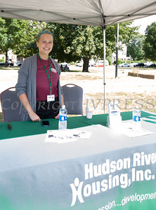 Anna Hermann represents hudson River Housing at the Poughkeepsie Healthy Black and Latino Coalition celebration of Hispanic Heritage Month at the Hispanic Heritage Festival on Saturday, September 17, 2016 at Mansion Square Park in Poughkeepsie, NY. Hudson Valley Press/CHUCK STEWART, JR.