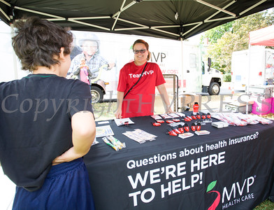Juana Leandry-Torres represents MVP Health Care at the Poughkeepsie Healthy Black and Latino Coalition celebration of Hispanic Heritage Month at the Hispanic Heritage Festival on Saturday, September 17, 2016 at Mansion Square Park in Poughkeepsie, NY. Hudson Valley Press/CHUCK STEWART, JR.