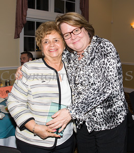 Award honoree Daisy Vale with Cornerstone Family Healthcare Director of Development Regina McGrade at the 21st Annual Orange County Human Rights Commission Awards Dinner held on Thursday, April 21st at The Fountains of Wallkill. Hudson Press/CHUCK STEWART, JR.
