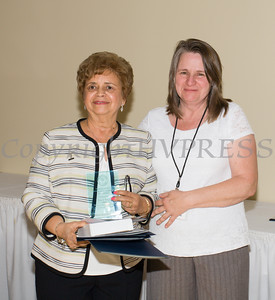 Award honoree Daisy Vale was introduced by Anne Horsham during the 21st Annual Orange County Human Rights Commission Awards Dinner held on Thursday, April 21st at The Fountains of Wallkill. Hudson Press/CHUCK STEWART, JR.