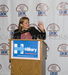 Speaker of the New York City Council Melissa Mark-Viverito gives the keynote address during the Latino Democratic Committee of Orange County Thirteenth Annual Fall Dinner Dance at Cafe Internationale in Newburgh, NY on Saturday, October 15, 2016. Hudson Valley Press/CHUCK STEWART, JR.