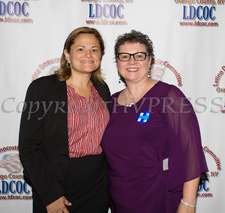 Speaker of the NYC Council Melissa Mark-Viverito and LDCOC Co-Chair Mary Olivera at the Latino Democratic Committee of Orange County Thirteenth Annual Fall Dinner Dance at Cafe Internationale in Newburgh, NY on Saturday, October 15, 2016. Hudson Valley Press/CHUCK STEWART, JR.