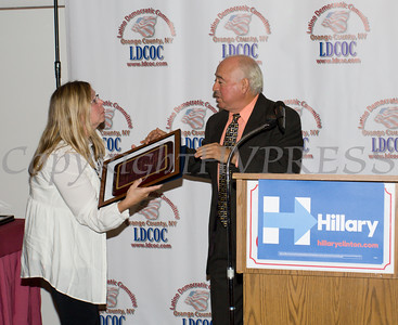 A special award was presented to Israel Campos during the Latino Democratic Committee of Orange County Thirteenth Annual Fall Dinner Dance at Cafe Internationale in Newburgh, NY on Saturday, October 15, 2016. Hudson Valley Press/CHUCK STEWART, JR.