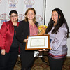 LDCOC Chair Sonia Ayala present Speaker of the NYC Council Melissa Mark-Viverito with certificates along with City of Newburgh Councilwoman Karen Mejia during the Latino Democratic Committee of Orange County Thirteenth Annual Fall Dinner Dance at Cafe Internationale in Newburgh, NY on Saturday, October 15, 2016. Hudson Valley Press/CHUCK STEWART, JR.