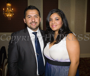 Ulster Savings Bank Newburgh Branch Manager Jose Lemus with his wife at Latinos Unidos of the Hudson Valley's 15th Anniversary and its 11th Annual Hispanic Heritage Cultural Celebration at Anthony's Pier 9 in New Windsor, NY on Friday, October 14, 2016. Hudson Valley Press/CHUCK STEWART, JR.