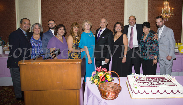 Members of the Board of Latinos Unidos of the Hudson Valley pose for a group photo as they celebrated the organizations 15th Anniversary and its 11th Annual Hispanic Heritage Cultural Celebration at Anthony's Pier 9 in New Windsor, NY on Friday, October 14, 2016. Hudson Valley Press/CHUCK STEWART, JR.