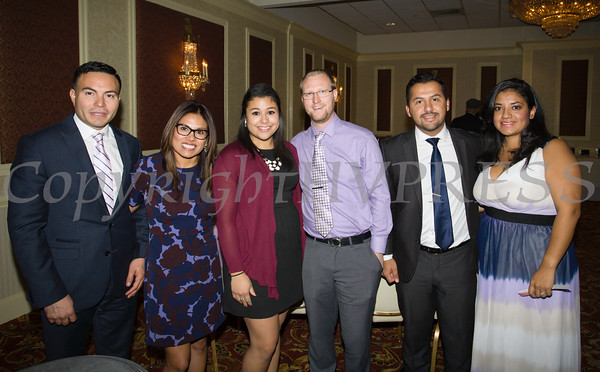 Representatives of Ulster Savings Bank at Latinos Unidos of the Hudson Valley's 15th Anniversary and its 11th Annual Hispanic Heritage Cultural Celebration at Anthony's Pier 9 in New Windsor, NY on Friday, October 14, 2016. Hudson Valley Press/CHUCK STEWART, JR.