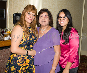 Maria Chavarria, Millie Caceres and Laura Garcia at Latinos Unidos of the Hudson Valley's 15th Anniversary and its 11th Annual Hispanic Heritage Cultural Celebration at Anthony's Pier 9 in New Windsor, NY on Friday, October 14, 2016. Hudson Valley Press/CHUCK STEWART, JR.