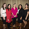 Stacey Herasme, Maribel Metos, Gisela Gomez and Cynthia Ynoa-Santos and Victoria Cazorla representing M&T Bank at Latinos Unidos of the Hudson Valley's 15th Anniversary and its 11th Annual Hispanic Heritage Cultural Celebration at Anthony's Pier 9 in New Windsor, NY on Friday, October 14, 2016. Hudson Valley Press/CHUCK STEWART, JR.