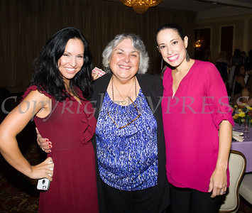 Jennifer Echevarria of Jacobowitz and Gubits, Carmen Vazqueztell, and  Gisela Gomez of M&T Bank at Latinos Unidos of the Hudson Valley's 15th Anniversary and its 11th Annual Hispanic Heritage Cultural Celebration at Anthony's Pier 9 in New Windsor, NY on Friday, October 14, 2016. Hudson Valley Press/CHUCK STEWART, JR.