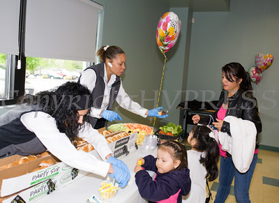 Moms and their children enjoyed free food at the MVP Health Care sponsored Mother's Day Celebration at Cornerstone Family Healthcare on Saturday, May 7, 2016. Hudson Valley Press/CHUCK STEWART, JR.