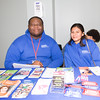 Planned Parenthood Mid-Hudson Valley Community Health Promoters Jo'Van and Aura hand out information during the MVP Health Care sponsored Mother's Day Celebration at Cornerstone Family Healthcare on Saturday, May 7, 2016. Hudson Valley Press/CHUCK STEWART, JR.