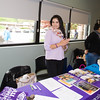 Alzheimer's Association Latino Outreach Manager Theresa Lopez hands out information during the MVP Health Care sponsored Mother's Day Celebration at Cornerstone Family Healthcare on Saturday, May 7, 2016. Hudson Valley Press/CHUCK STEWART, JR.