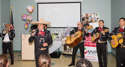 A mariachi band performs during the MVP Health Care sponsored Mother's Day Celebration at Cornerstone Family Healthcare on Saturday, May 7, 2016. Hudson Valley Press/CHUCK STEWART, JR.