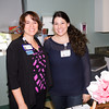 Cornerstoone Family Healthcare's Annia Reyes and Erica McGuire hand out information to attendees of the MVP Health Care sponsored Mother's Day Celebration at Cornerstone Family Healthcare on Saturday, May 7, 2016. Hudson Valley Press/CHUCK STEWART, JR.